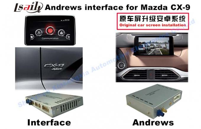 CX -9 Tingkatkan Android Multimedia Car Multimedia Sistem Navigasi MirrorLink / Bt / DVD