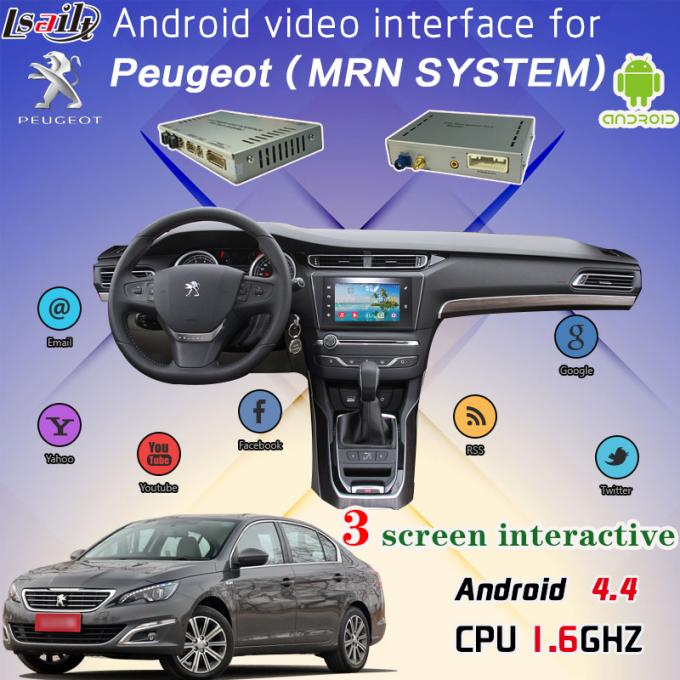 Multilanguage IGO Map Android  Auto Interface with Rear Camera work for Peugeot