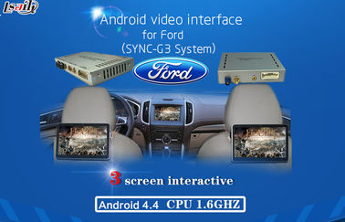 Cina Android AV output video interface GPS Car Multimedia Navigation System for 2016 Ford , WIFI/BT/TV pemasok
