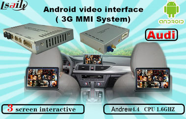 Cina Quad Core Android Navigation box , Upgraded Multimedia Video Interface for AUDI pemasok