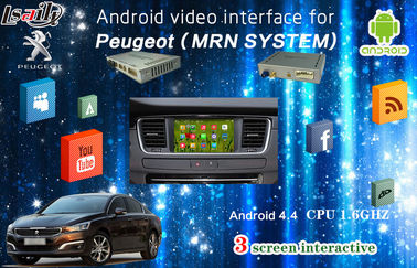 Cina Multilanguage IGO Map Android  Auto Interface with Rear Camera work for Peugeot pemasok