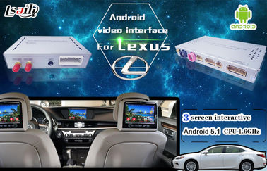 Cina Android 5.1 6.0 Navigasi GPS Video Interface Box Untuk New Toyota & Lexus IS ES NX RX GX LX pemasok