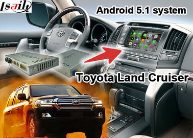 Cina Toyota Land Cruiser LC100 LC200 Android Navigation Video Interface Upgrade Touch Navigation WIFI pemasok
