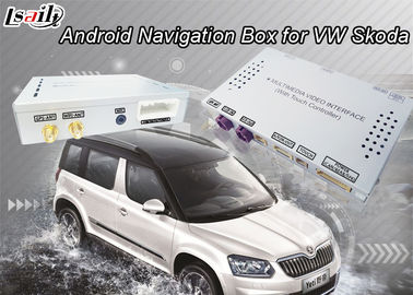 Cina Antarmuka Video Mobil Asli Android Navigation Navigation Box untuk VW Skoda Multimedia DVR MirrorLink pemasok