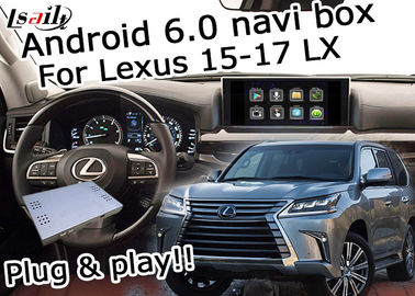 Cina LX570 Lexus Video Interface / Kotak navigasi GPS 16GB ROM 2GB Random memory pemasok