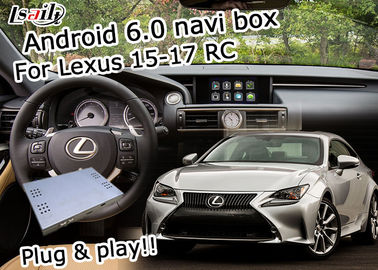 Cina Lexus video interface Android 6.0 untuk Lexus RC 2015-2017 youtube waze pemasok