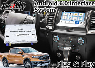 Cina Android 6.0 Auto Interface Gps Navigasi untuk Ford Ranger / Everest SYNC 3 Sistem LVDS Tampilan Digital Bluetooth OBD pemasok