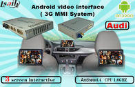 Cina Quad Core Android Navigation box , Upgraded Multimedia Video Interface for AUDI pabrik