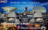 Cina Touch Control Android Auto Interface for Benz C / E / A / B/ML / GLK , Support 3 Screens display synchronously pabrik