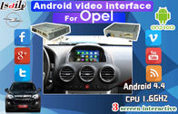 Cina Android audio video interface with Dynamic Parking Guide Line work for Opel , CUE System pabrik