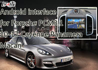Cina Multimedia Android 6.0 Navigation System untuk Porche Macan, Panamera, Cayenne mendukung APPS, on-line Map pabrik