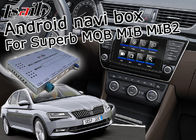 Cina Skoda Superb GPS Navigation Box, Android Car Navigation Box 4/2 GB Running Memory pabrik