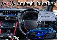 Navigasi Mobil GPS Antarmuka Video Android Lexus RCF RC300 Instalasi Plug And Play