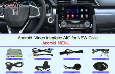 Cina HD 2016 Civic Honda Video Interface Layar sentuh Multimedia Android 6.0 Distributor