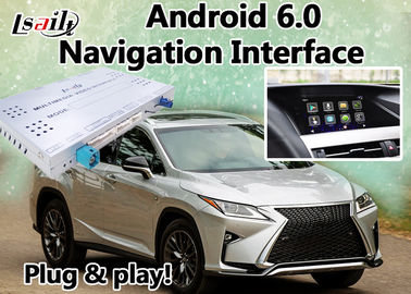 Android 6.0 Navi Lexus Video Interface Box untuk 2012-2017 RX450 RX350 RX270 dengan Mirrorlink