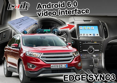 Cina Ford EDGE SYNC 3 Kotak Android Gps WIFI BT Peta Google apps video interface Distributor
