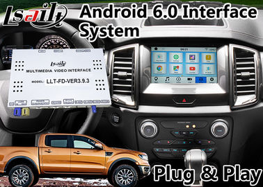 Android 6.0 GPS Navigasi Antarmuka Video untuk Ford Ranger / Explorer SYNC 3 Sistem WIFI BT Mirror link Cast Screen